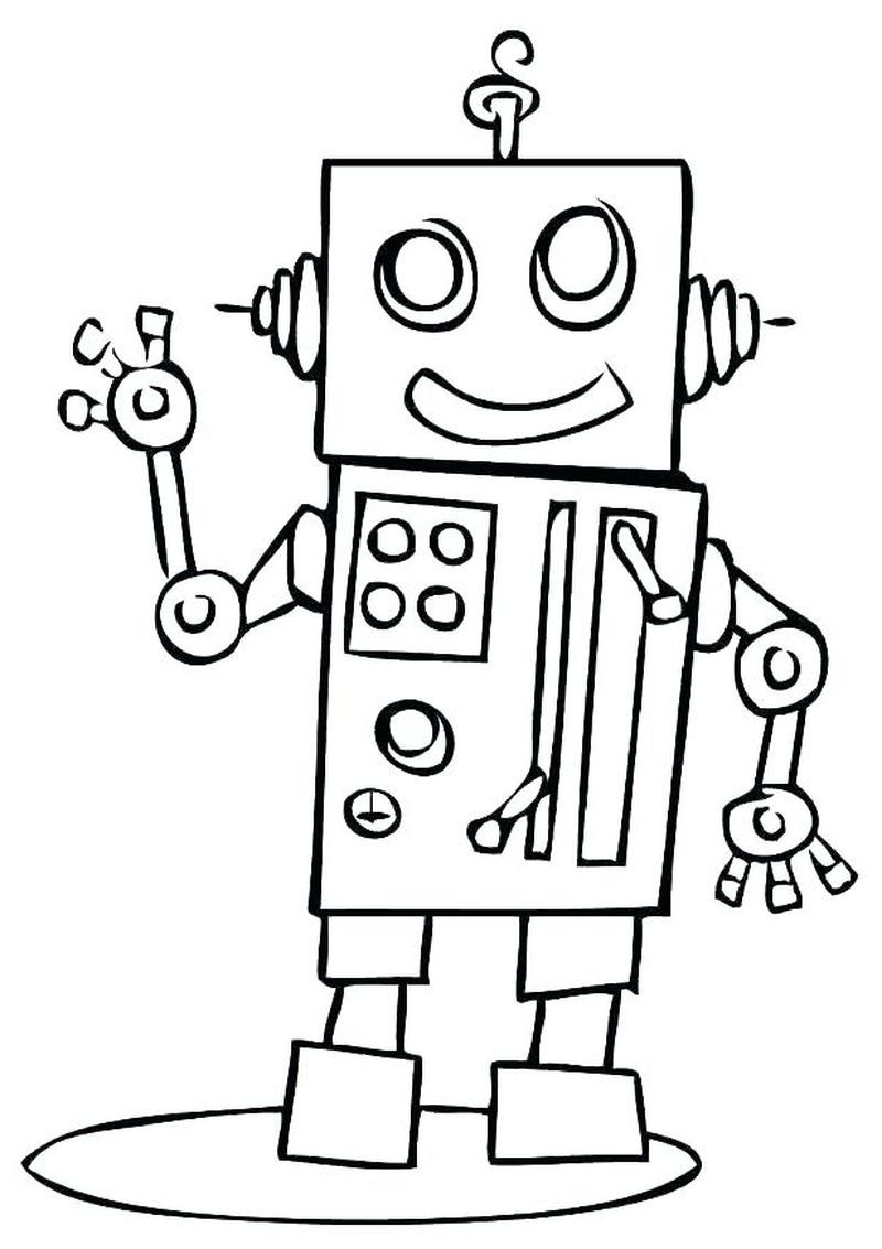 Cool Robot Coloring Pages To Print For Kids Dinosaur Coloring