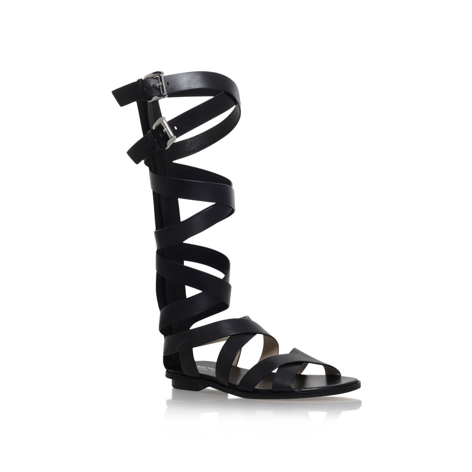 cce7b66443f Michael Kors Darby gladiator flat knee high sandals