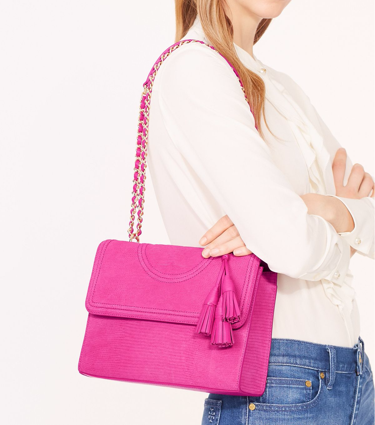 13b0b78a6b8 Love this hot pink from Tory Burch | Bags, Shoes & Jewels | Bags ...