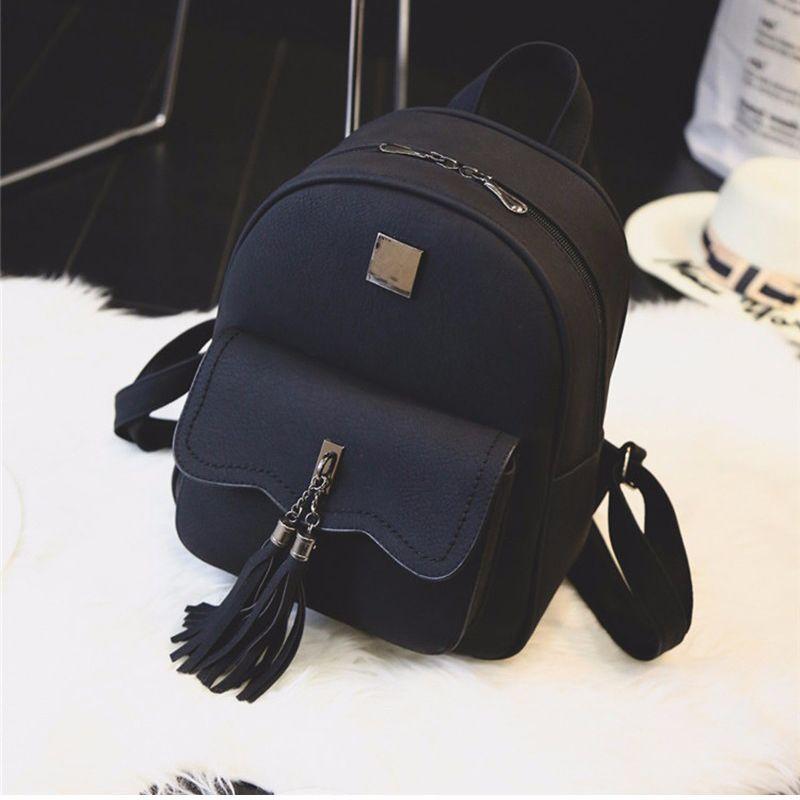 d0c4c2c448d3 Купить товар Кисточкой женщины кожаные рюкзак подростковой рюкзаки ...