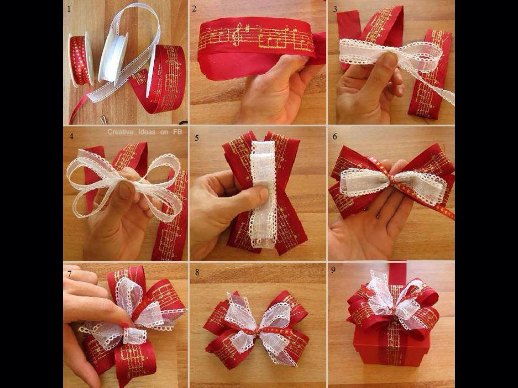 Tie a bow christmas pinterest this is an easy and pretty gift bow that can use up the ends of ribbon rolls the post links to 12 other diy christmas present bow tutorials solutioingenieria Image collections