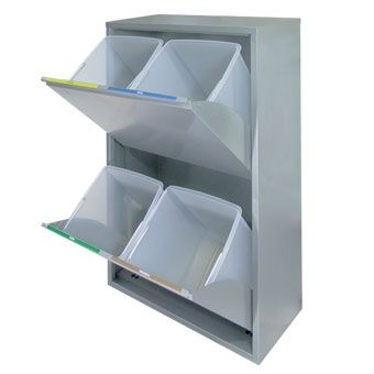 Mueble basic para recogida selectiva 4 residuos recogida for Muebles para reciclar