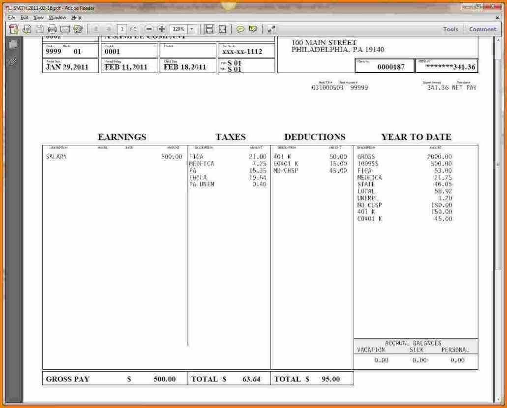 whether check stub template an employee receives paychecks via direct deposit physical check or payroll card a pay stub [ 1031 x 831 Pixel ]