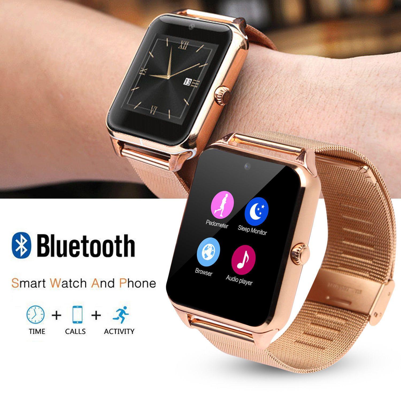 cool Bluetooth Good Wrist Watch Metal Band Telephone Mate