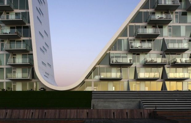 Apartment Complex: The Wave Location: Vejle, Denmark  Architect: Henning Larsen Architects, 2009  Cool Fact: The Wave was awarded the LEAF award for residentia...