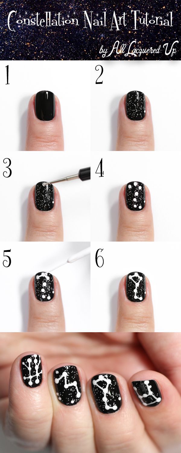 Galaxy Inspired DIY Constellations Nail Art To Try Galaxy Inspired DIY Constellations Nail Art To Try new pictures
