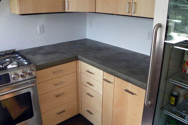maple cabinets gray countertop | Kitchen | Pinterest ...