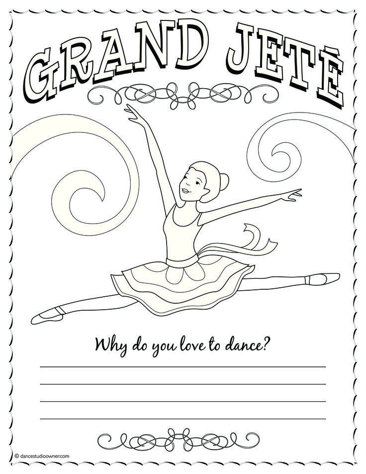 Ballerina Coloring Pages For Kids - http://fullcoloring.com ...