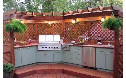 Cuisine Extérieure Décoration Extérieure Pinterest Cuisine - Meuble de cuisine exterieure pour idees de deco de cuisine