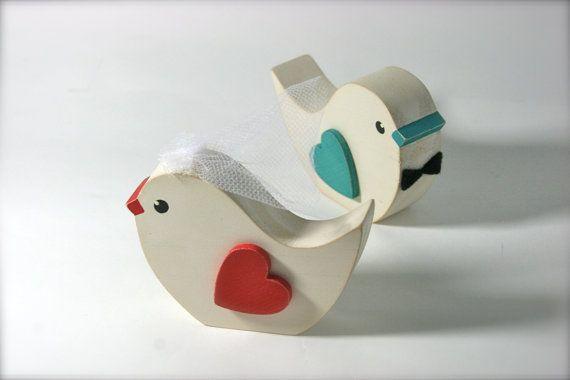 Wedding Cake Topper Love Bird Pair Primitive by primitiveseason, $16.75