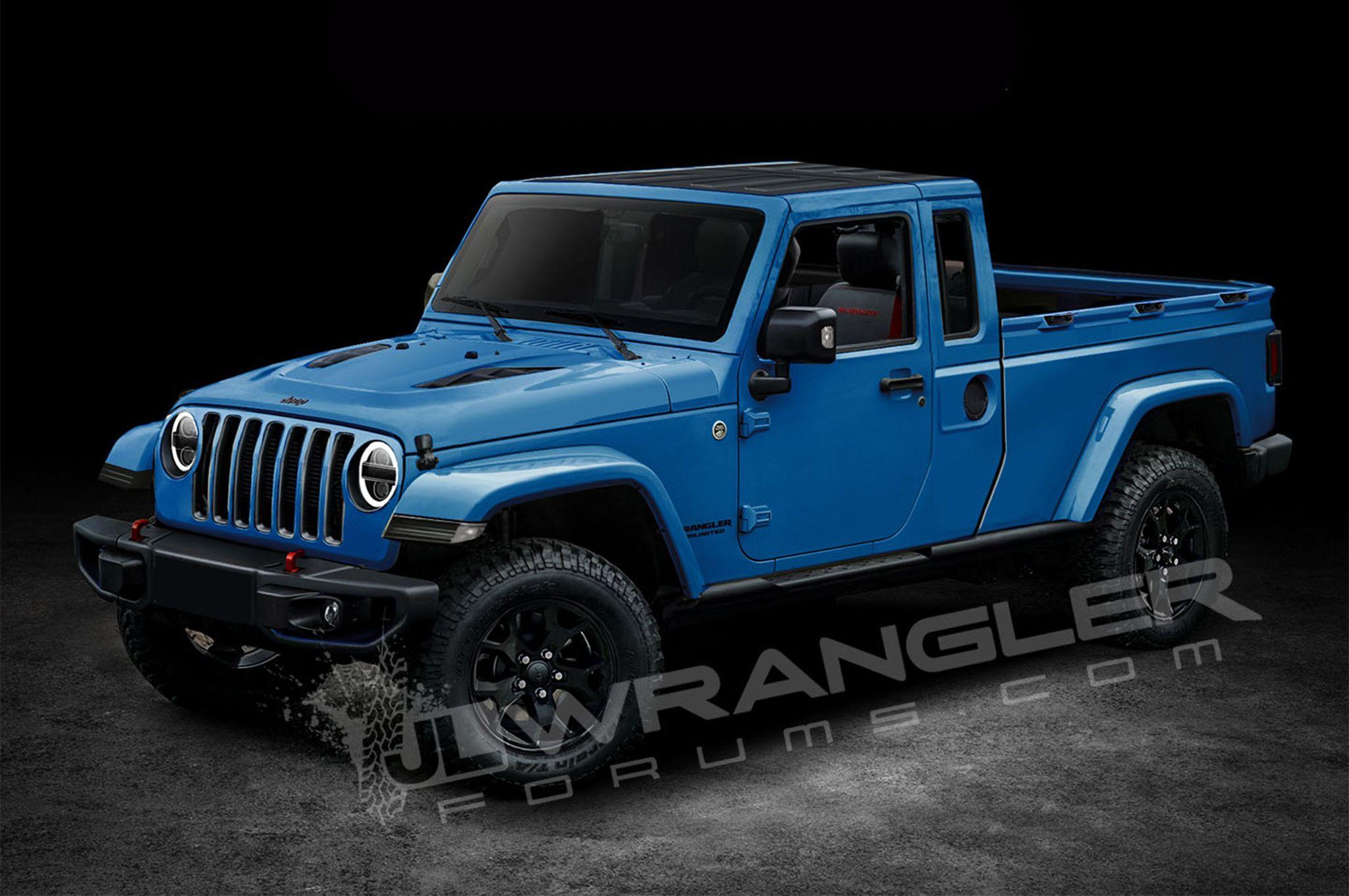 Exclusive Ideas Two Door Pickup Truck Will The Jeep Wrangler Look