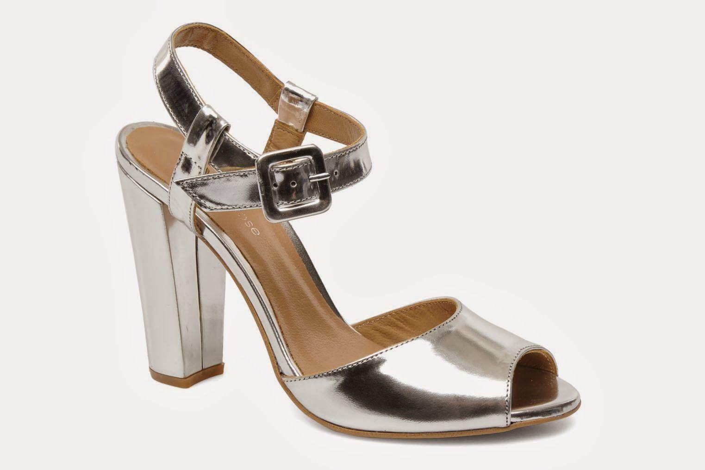 Silver block heel sandals from Sarenza | Get in my wardrobe