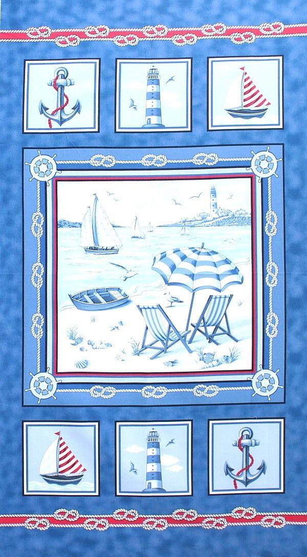 Marcus Fabrics - Laura Berringer 'Beach Retreat' Bildgröße 60 cm x 110 cm ma-098-01-6077
