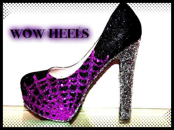 spider web burlesque high heels 49 00 via etsy itsy bitsy