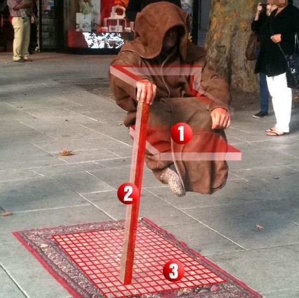 How is levitation performed on the street   Magic tricks ...