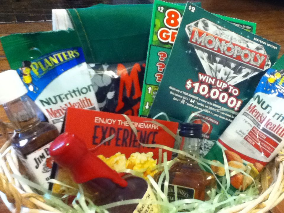Manly easter basket guinness flag beef jerky lottery tickets basket ideas negle Images