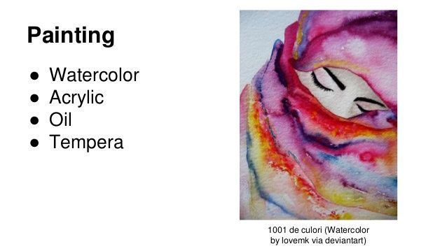 Painting Watercolor Acrylic Oil Tempera 1001 De Culori