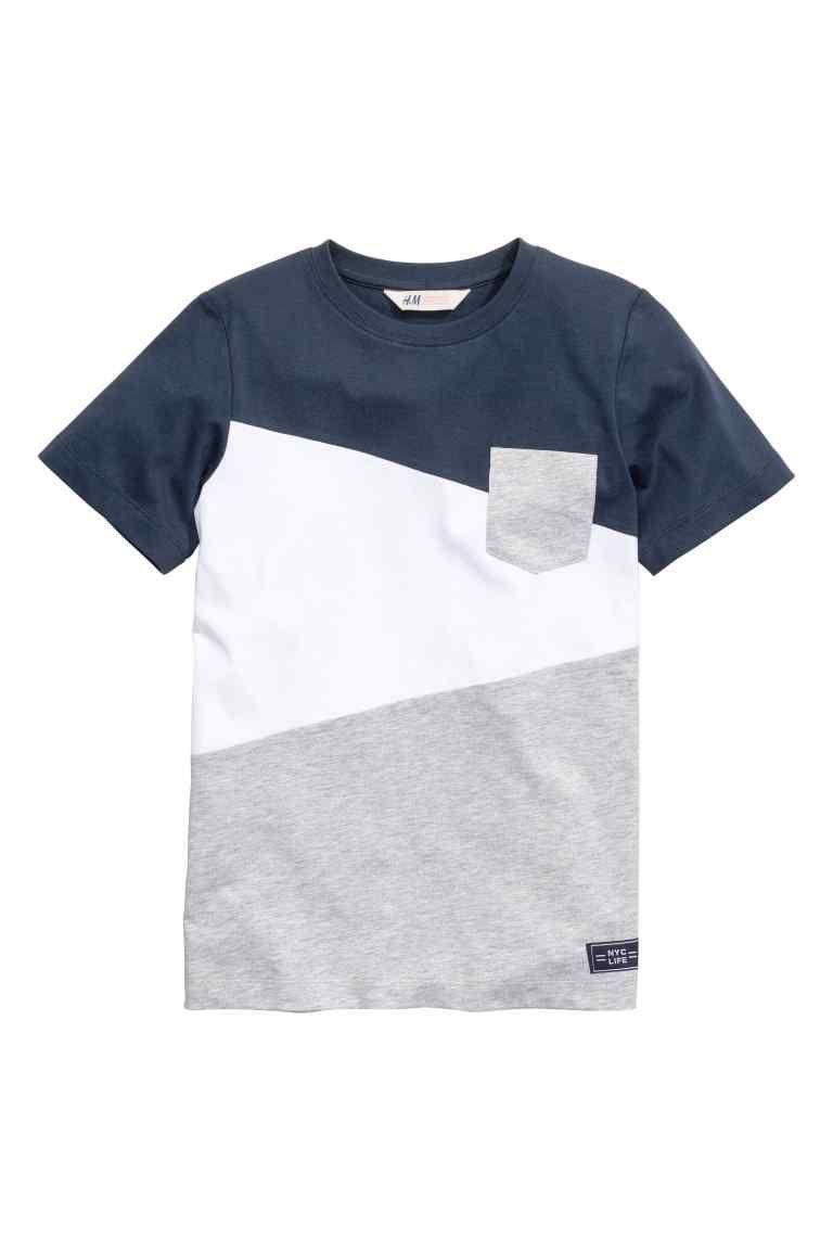 bc794c9eaf0 Camiseta en bloques de color | H&M Poleras Para Hombre, Camisetas Polo  Hombre, Ropa