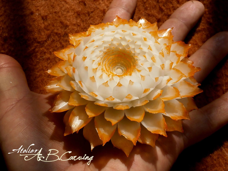 Hand carved soap flower vanilla soap flower custom color soap