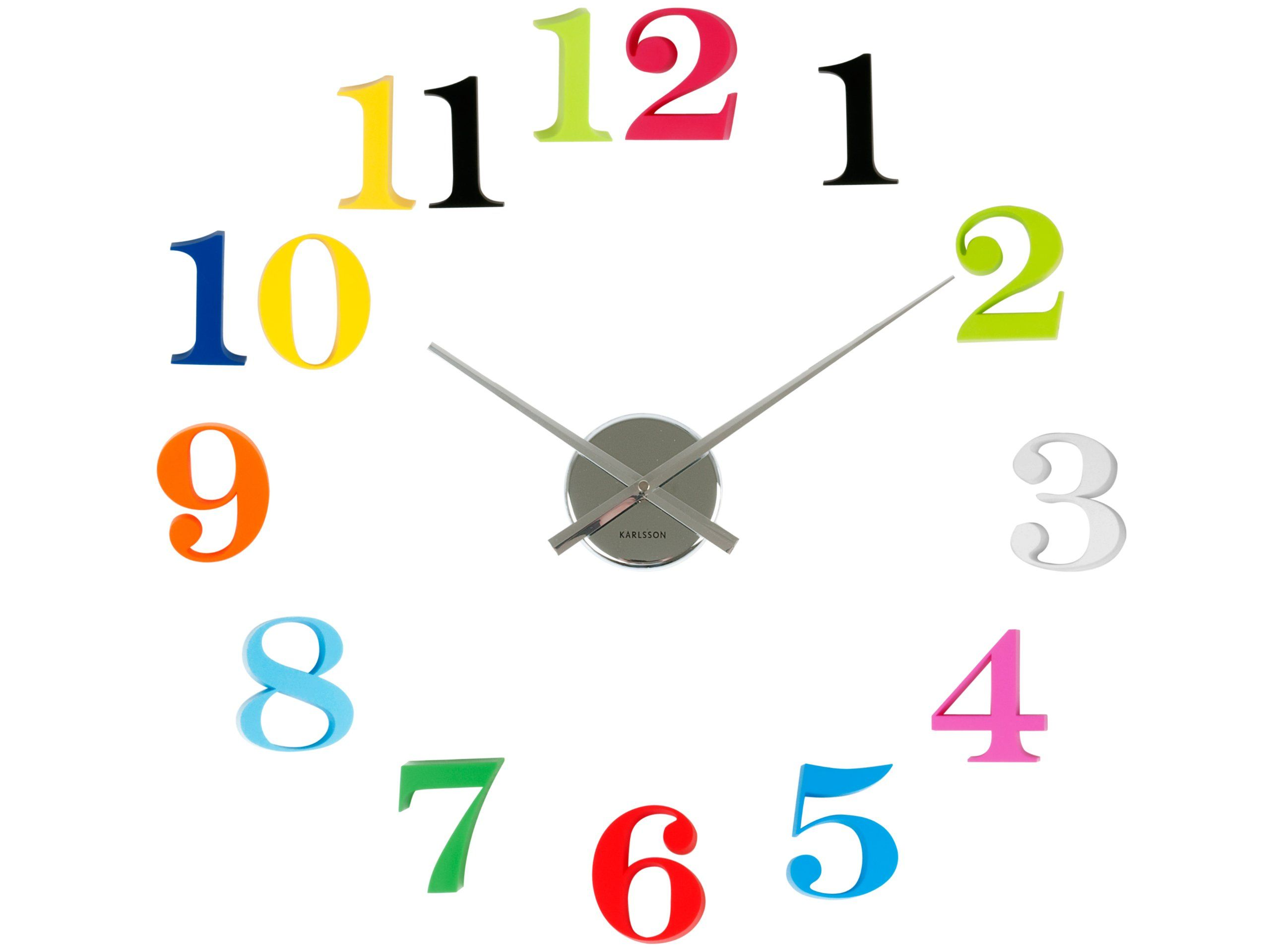 Karlsson wall clock diy grand numbers colours plastic amazon karlsson wall clock diy grand numbers colours plastic amazon amipublicfo Images