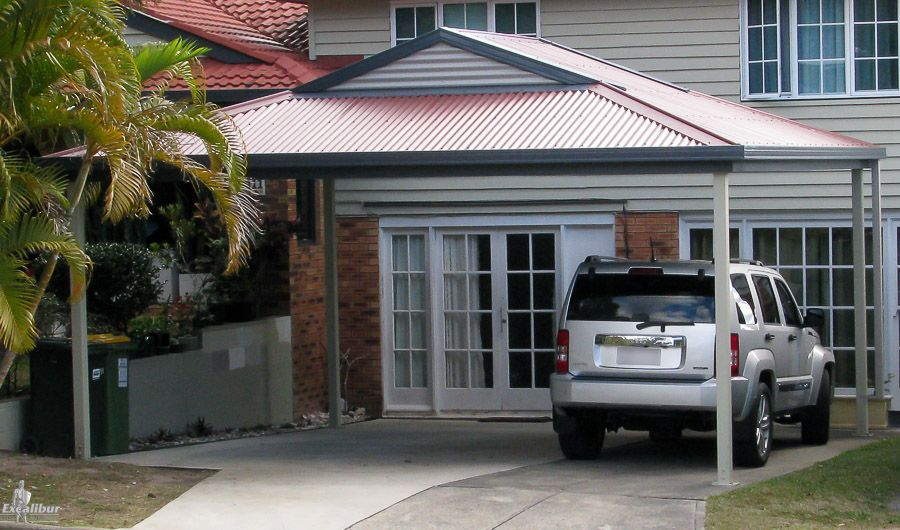 Get A Quality Carport Kit With A Hip Roof Carport To Match And Add Value To Your Home Made To Size Using Aust Carport Designs Building A Carport Carport Kits