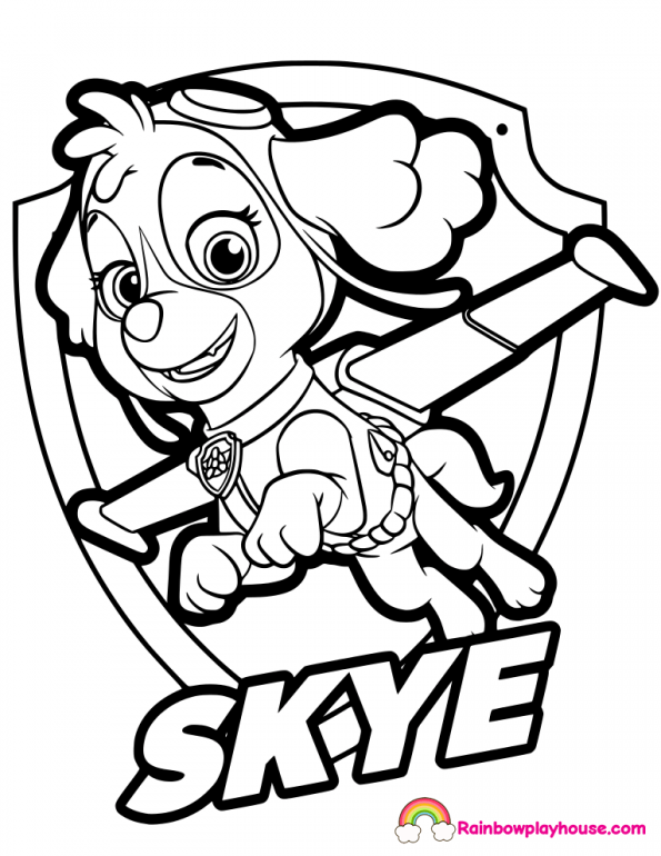 Coloring Pages Coloring Pictures Paw Patrol Photo Ideas Skye Paw Patrol Coloring Pages Paw Patrol Coloring Skye Paw Patrol