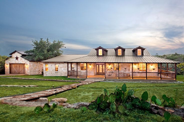 Texas ranch style home in austin tx more new farmhouse for House plans texas style ranch