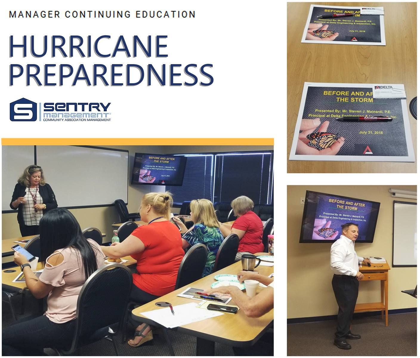 Community Association Managers At The Longwood Fl Office Attended A Continuing Education Class This Morn Continuing Education Hurricane Preparedness Education