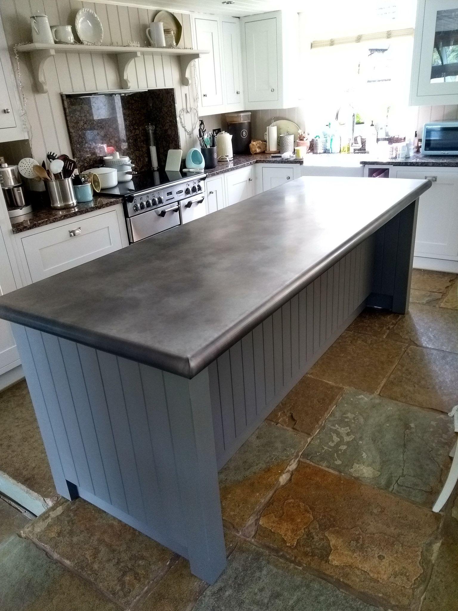 202 aged zinc worktop in 2020 kitchen dining living kitchen design cool kitchens on kitchen zinc id=22491