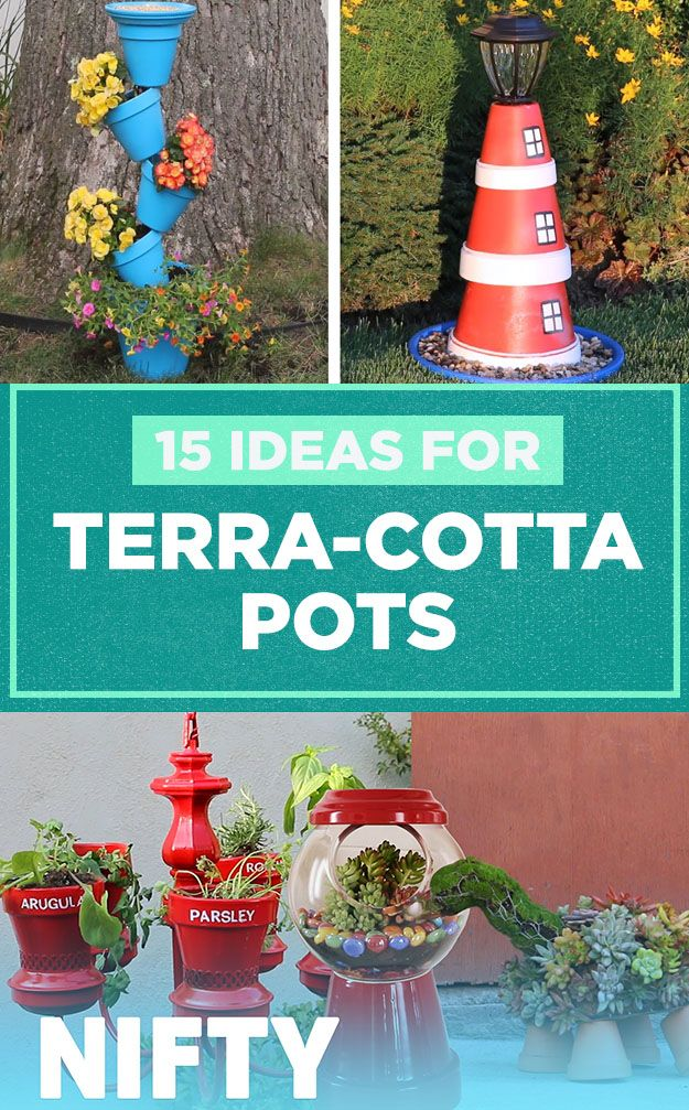 15 Ideas For Terra-Cotta Pots #plants #gardening #planting #diy ...