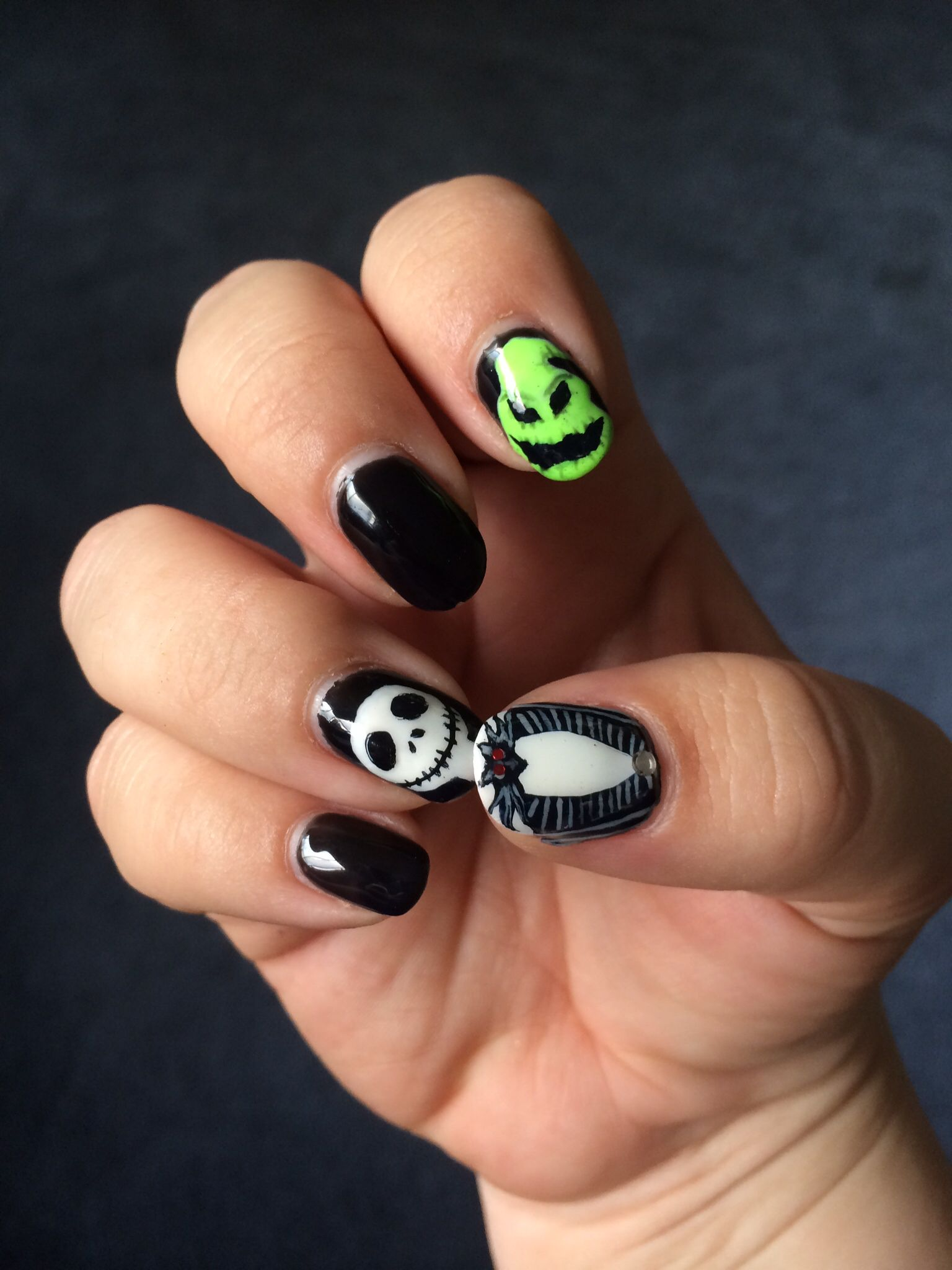 Halloween nails - Halloween nail art inspired by The Nightmare ...