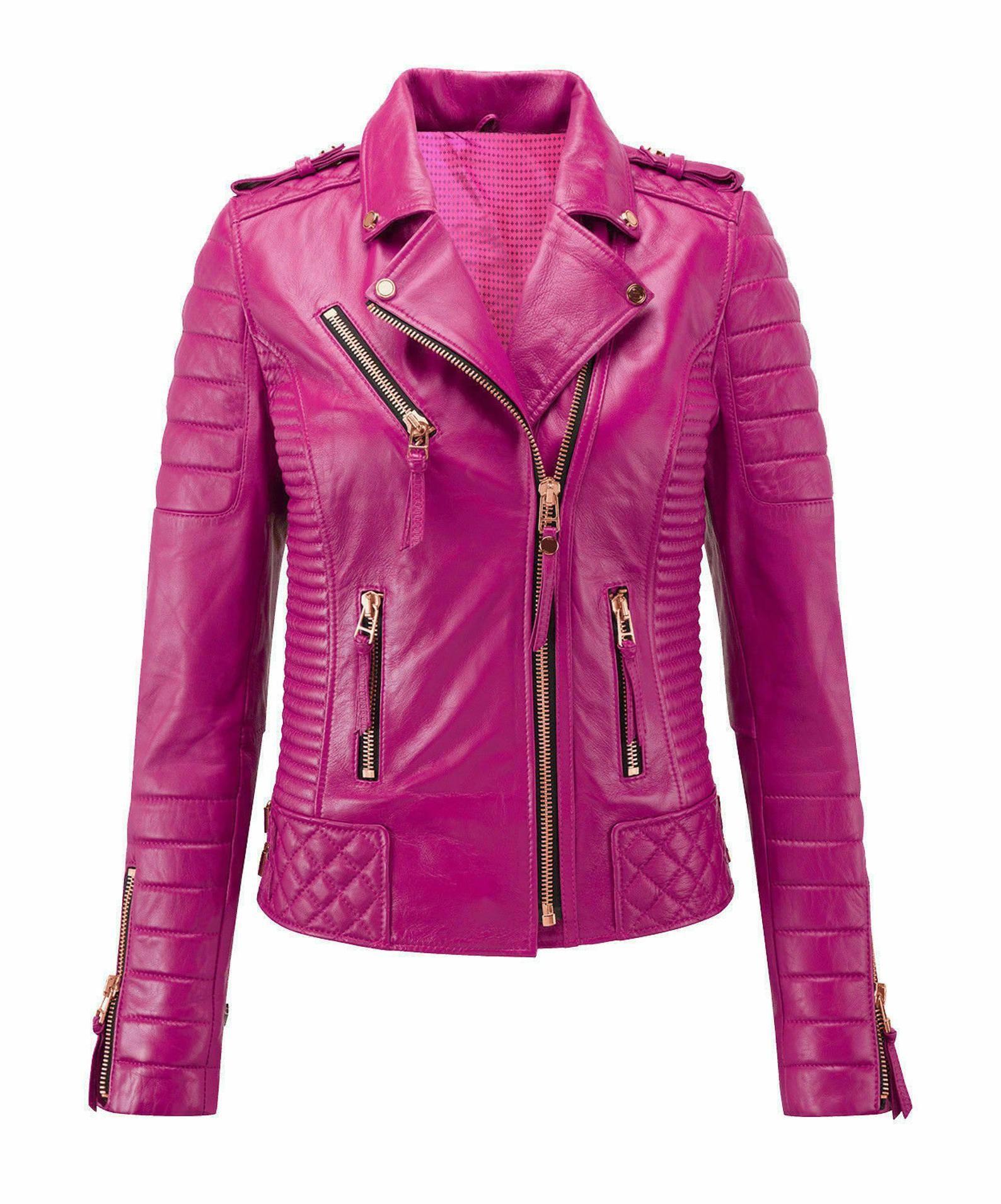 Women S Genuine Lambskin Leather Jacket Handmade Jacket Etsy Leather Jackets Women Leather Jacket Pink Leather Jacket [ 1910 x 1588 Pixel ]