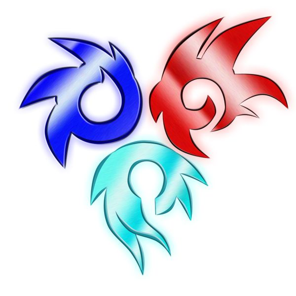 symbol of sonic shadow and silver metallic tattoos