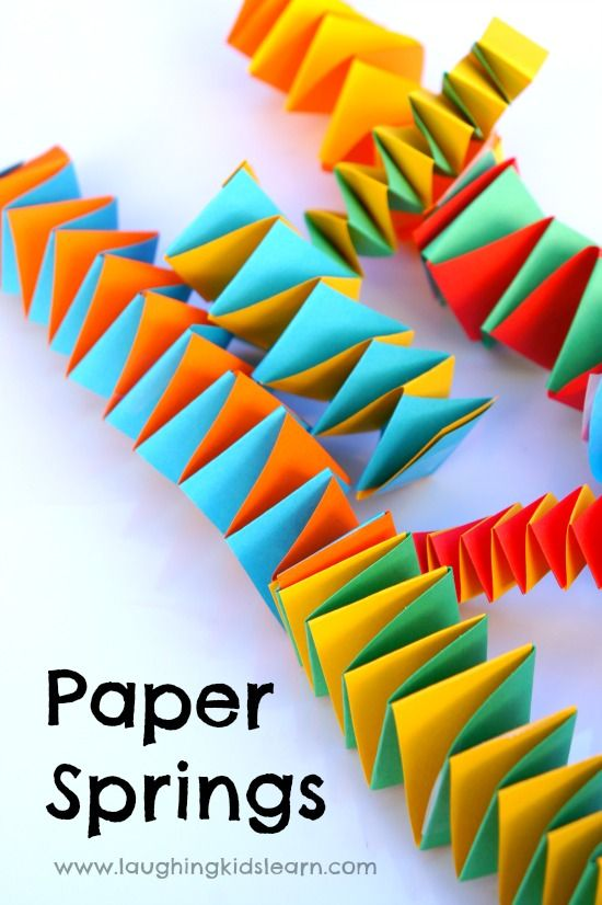 How To Make Fun Paper Springs Paper Crafts For Kids Crafts