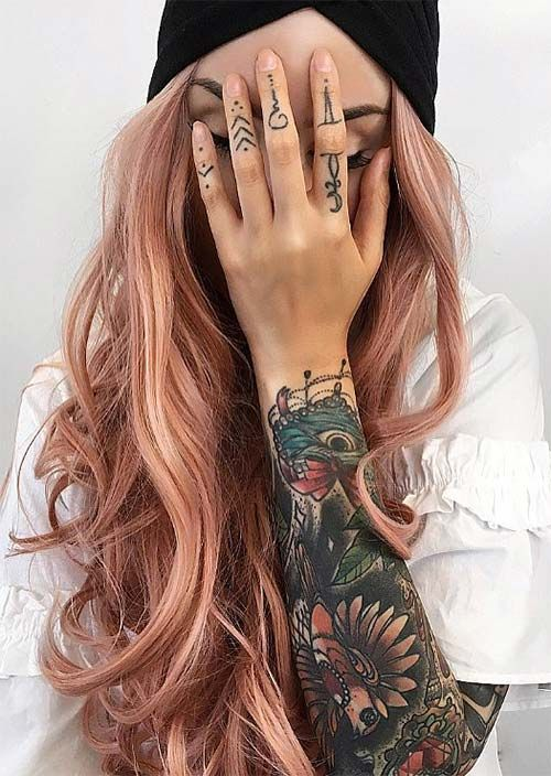 52 Charming Rose Gold Haarfarben: So erhalten Sie Rose Gold Hair - Neueste frisuren | bob frisuren | frisuren 2018 - neueste frisuren 2018 - haar modelle 2018 #hairhowtoget