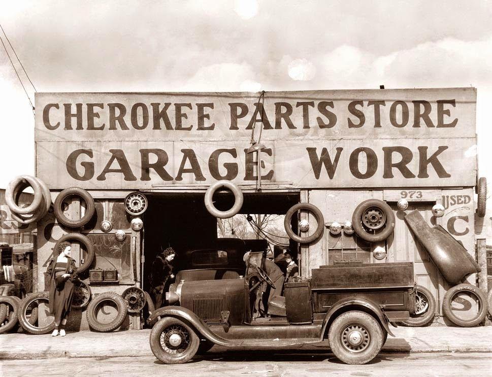 1936 Atlanta, GA Walker evans photography, Old gas stations