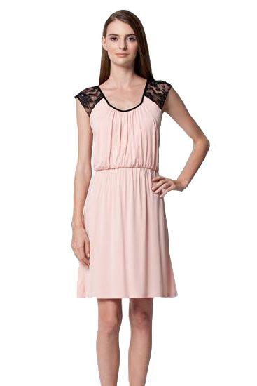 Harlow Nursing Dress in Blush