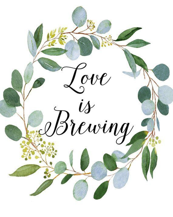 Download Love is Brewing Sign Bridal Shower Sign Baby Shower Sign ...