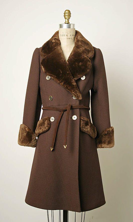 Abrigo lana y piel