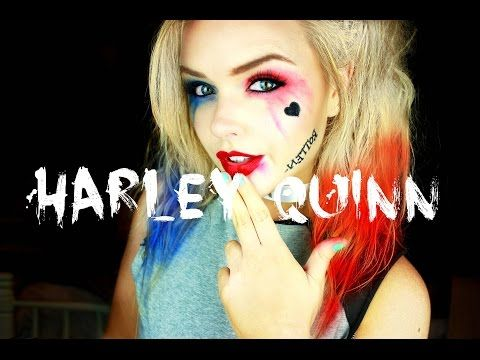 harley quinn makeup tutorial clothes also painted on. Black Bedroom Furniture Sets. Home Design Ideas