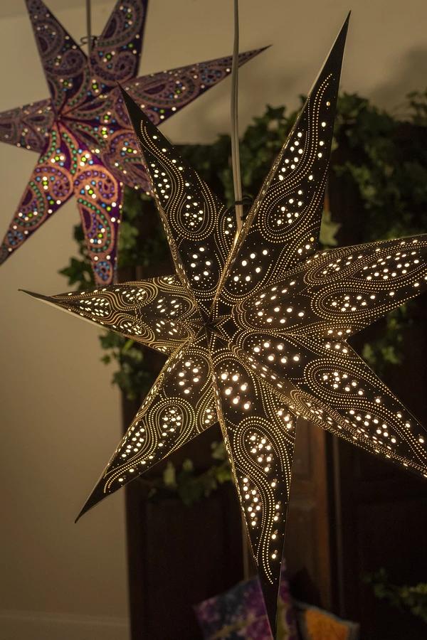 7 Point Paper Star Lantern Paper star lanterns, Star