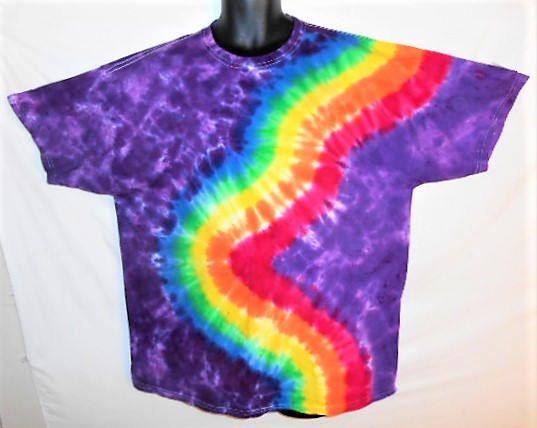 plus size rainbow tie dye shirt// 2xl purple with rainbow// gay