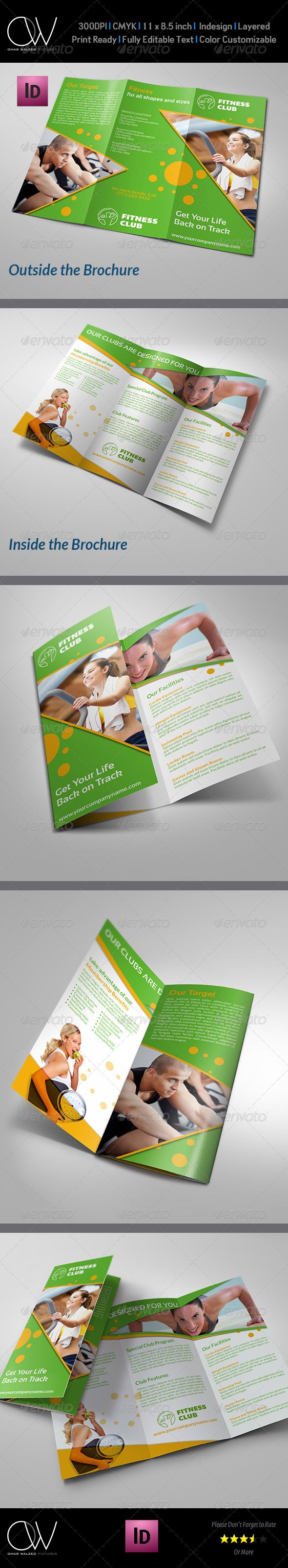 Fitness  Gym Brochure TriFold Template Vol  Tri Fold