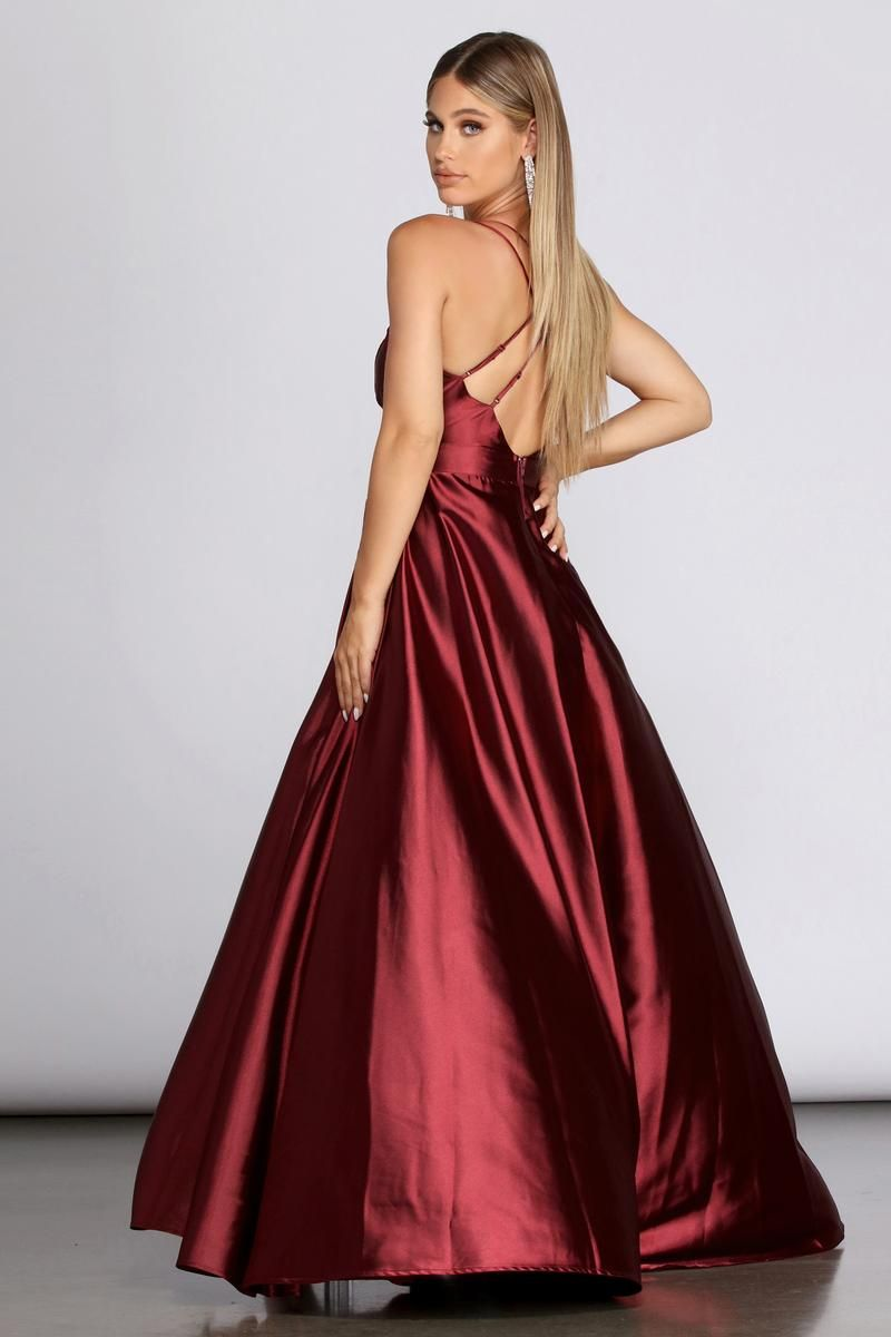 Priscilla Satin Evening Gown Satin Evening Gown Summer Ball Dresses Party Dresses Uk [ 1200 x 800 Pixel ]