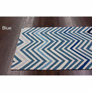 Nuloom Handmade Alexa Chevron Wool Rug 7 6 X 9 6