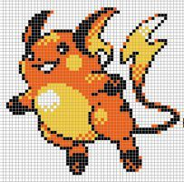 Raichu Ii By Hama Girl Perler Bead Pokemon Patterns