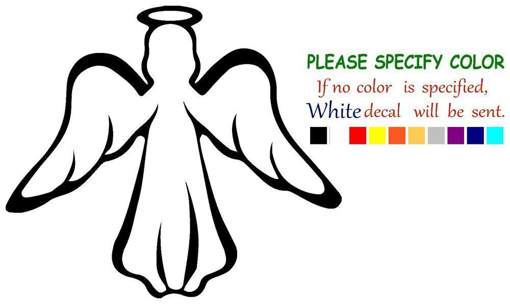 modern guardian angel vinyl decal car sticker window truck laptop