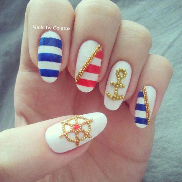60 Cute Anchor Nail Designs | Anchor nail art, Anchor nail designs and Anchor  nails - 60 Cute Anchor Nail Designs Anchor Nail Art, Anchor Nail Designs
