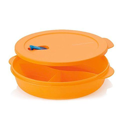 Brand New TUPPERWARE Lunch It Divided Dish W//Seal Microwave Container Coral