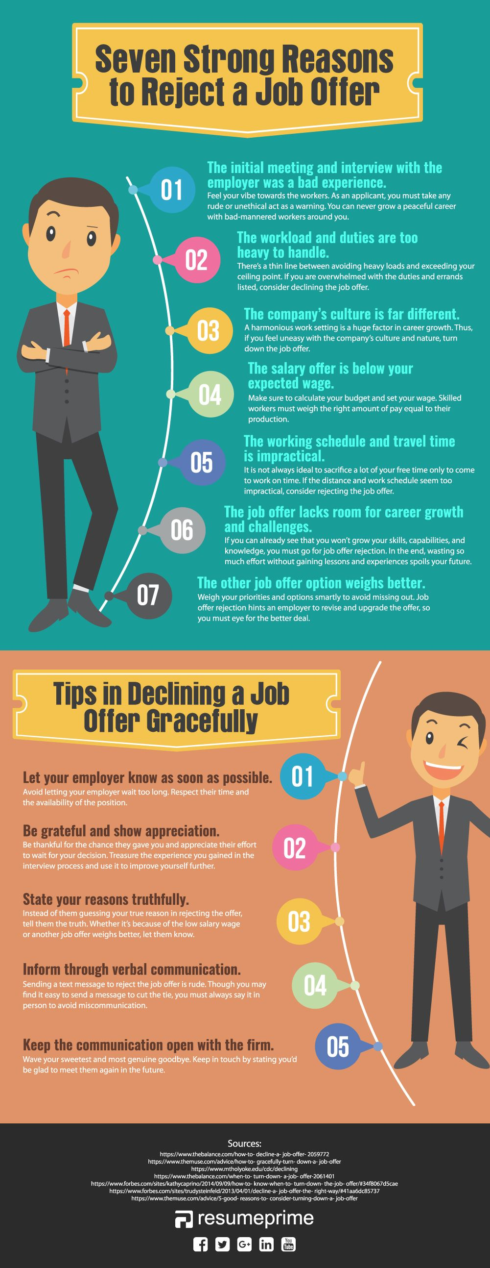 Seven Strong Reasons To Reject A Job Offer Job Offer Job Career Advice Resume